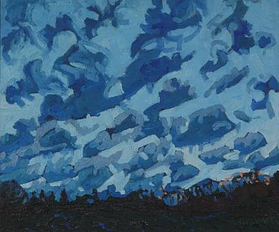 Painting - Sunday Sunrise Cumulus Floccus by Phil Chadwick