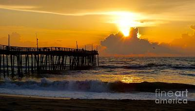 Photograph - Sunday Sunrise On Avon Pier by Jean Wright