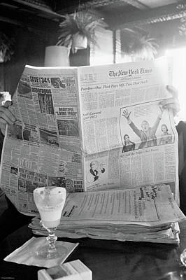 Photograph - Sunday Times And Irish Coffee by Frank DiMarco