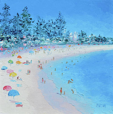 Painting - Sundays At Manly Beach by Jan Matson