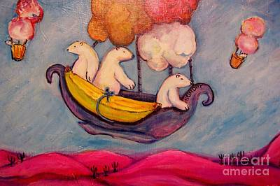 Psychiatry Painting - Sundays' Bears by Susan Brown    Slizys art signature name