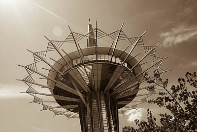 Photograph - Sundays Over The Prayer Tower - Sepia by Gregory Ballos