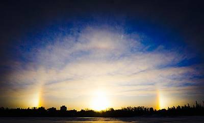 Photograph - Sun Dogs - Winnipeg by Desmond Raymond