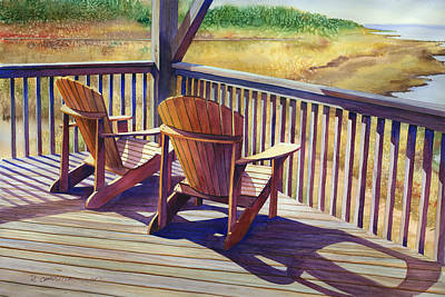 Outer Banks Painting - Sundeck Geometry Vii by Marguerite Chadwick-Juner