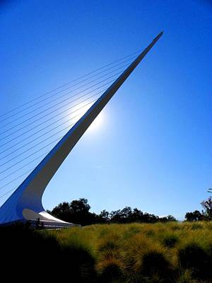 Abstract Digital Photograph - Sundial Bridge Afternoon by Elizabeth Hoskinson
