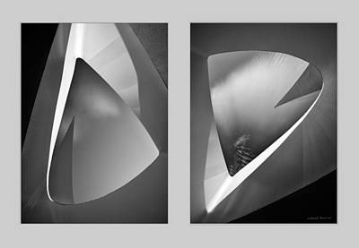 Photograph - Sundial Bridge Diptych by Leland D Howard