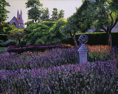 Painting - Sundial Garden by David Lloyd Glover