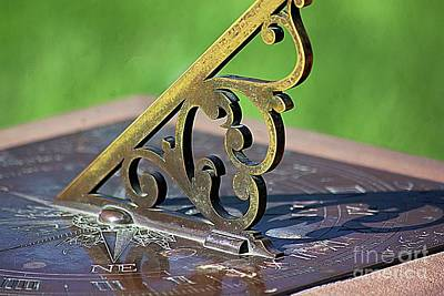 Photograph - Sundial In The Garden by John S
