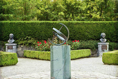 Photograph - Sundial In The Rose Garden by Maria Janicki