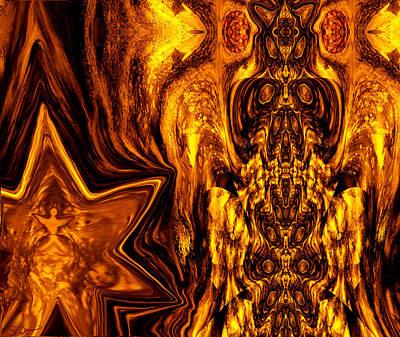 Gnosis Digital Art - Sundial Owl Totem by Abstract Angel Artist Stephen K