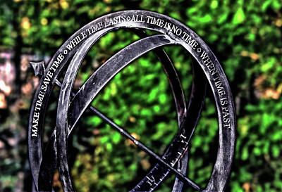 Photograph - Sundial With Poem 001 by George Bostian