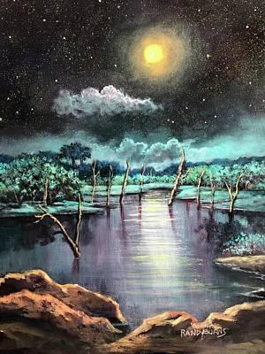 Painting - Sundials Beneath A Blue Moon by Randol Burns