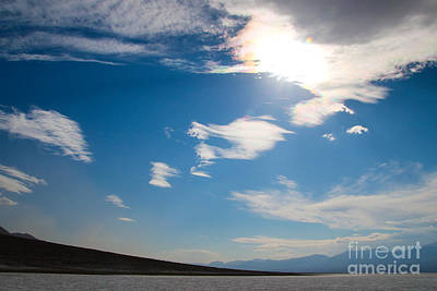 Photograph - Sundog Over Badwater Basin by Suzanne Luft