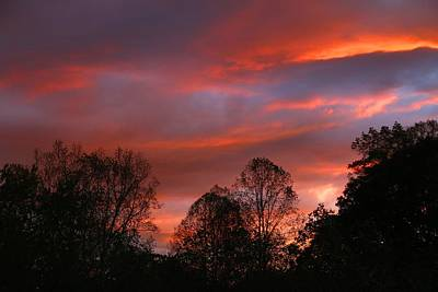 Photograph - Sundown After Cloudy Afternoon 2 by Kathryn Meyer