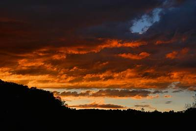 Photograph - Sundown After Cloudy Afternoon 1 by Kathryn Meyer