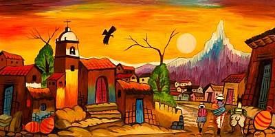 Gustavo Oliveira Painting - Sundown - Andes by Gustavo Oliveira