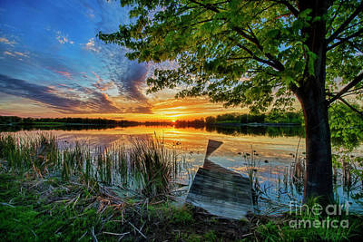 Photograph - Sundown At Broken Dock by David Arment