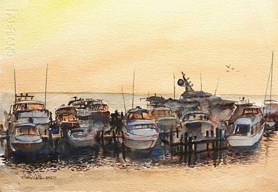 Sundown At Destin Art Print