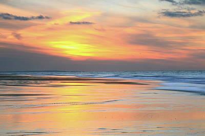 Art Print featuring the photograph Sundown At Race Point Beach by Roupen  Baker