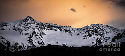 Art Print featuring the photograph Sundown At Sneffels Range by The Forests Edge Photography - Diane Sandoval