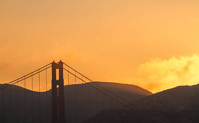Photograph - Sundown At The Golden Gate by Bonnie Follett