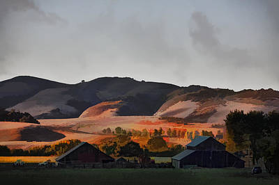 Sundown At The Ranch Art Print by Patricia Stalter