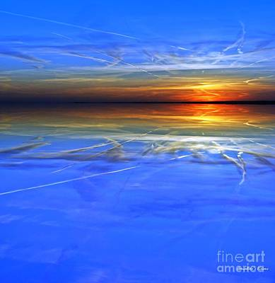 Sundown Busy Sky Art Print