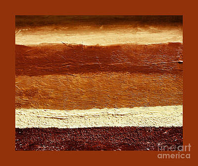 Raw Sienna Painting - Sundown Colors Ll by Marsha Heiken