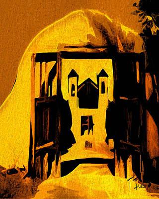 Digital Art - Sundown El Santuario by Terry Fiala
