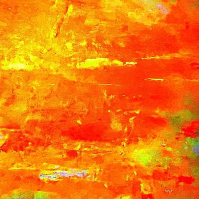 Painting - Sundown Glory Abstract by VIVA Anderson