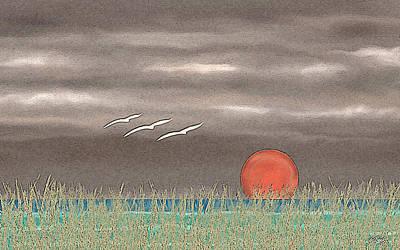 Moody Painting - Sundown by Gordon Beck