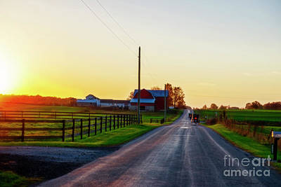Photograph - Sundown In Amishville by David Arment