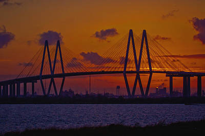 Sundown In Baytown Art Print