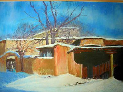 Painting - Sundown In Santa Fe by Judy Fischer Walton
