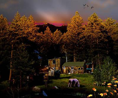 Sundown In The Rockies Art Print