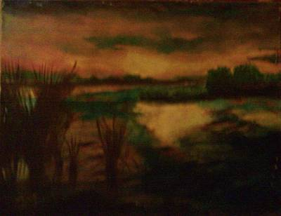Painting - Sundown Landscape by Helen Vanterpool