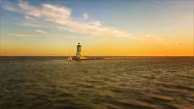 Photograph - Sundown Lighthouse by Jody Lane