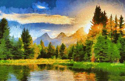 Sundown On Schwabachers Landing Art Print