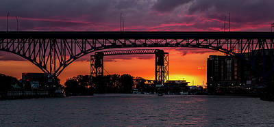 Photograph - Sundown On The Cuyahoga River by Dale Kincaid