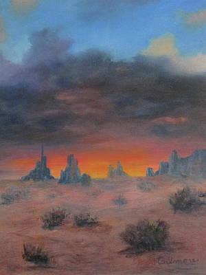 Painting - Sundown On The Desert by Roseann Gilmore