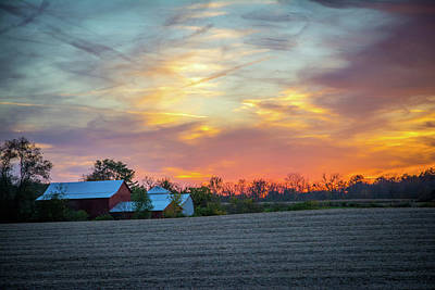 Photograph - Sundown On The Farm by Randall Branham