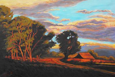 Sundown On The Ranch Art Print