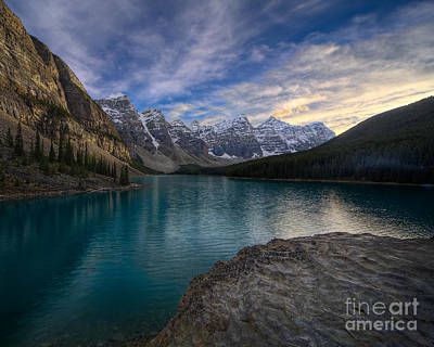 Canadian Rockies Photograph - Sundown On The Rocks by Royce Howland