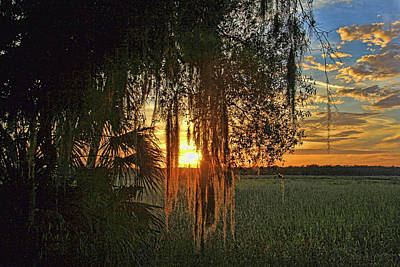 Photograph - Sundown On The Savannah By H H Photography Of Florida by HH Photography of Florida