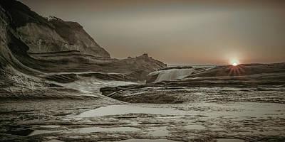 Photograph - Sundown Over The Ocean Rocks by Don Schwartz