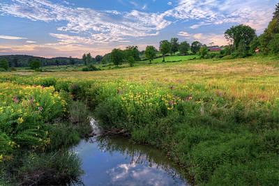 Photograph - Sundown Reflection by Bill Wakeley