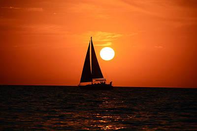 Sundown Sailors Art Print