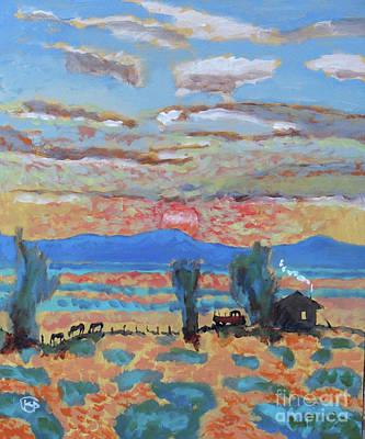 Maynard Dixon Painting - Sundown Supper by Kip Decker