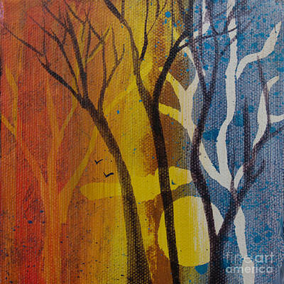 Painting - Sundown Through Trees by Robin Maria Pedrero