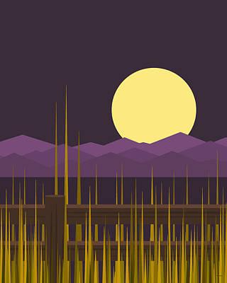 Digital Art - Sundown - Vertical by Val Arie